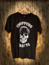 CnP Choppers n Partys -  Black Bandana Skull (Herren) T-Shirt Schwarz Totenkopf Biker Motorrad