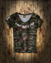CnP Choppers n Partys Camouflage T-Shirt Damen Motorrad