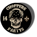 CnP Choppers n Partys Patch - Skull Bandana